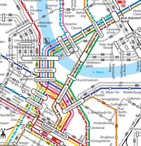 kaart openbaar vervoer bazel